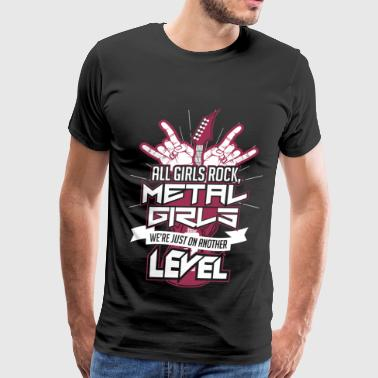 Metal girl - We're just on another level - Men's Premium T-Shirt