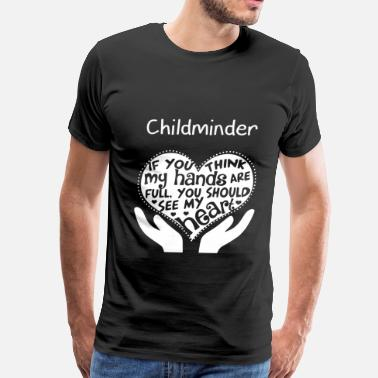 Playground Childminder - You should see my heart - Men's Premium T-Shirt