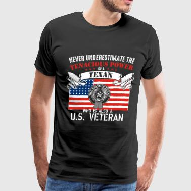 US veteran Texan - Never underestimate - Men's Premium T-Shirt