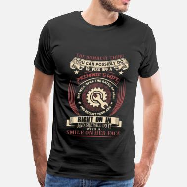 Aircraft Mechanic Mechanic - The dumbest thing you can possibly do - Men's Premium T-Shirt