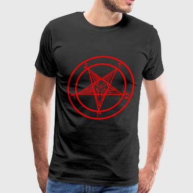 Satanic goat head pentagram - Men's Premium T-Shirt