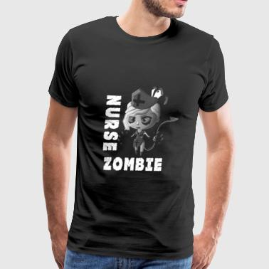 Nurse Zombie horror T-shirt - Men's Premium T-Shirt