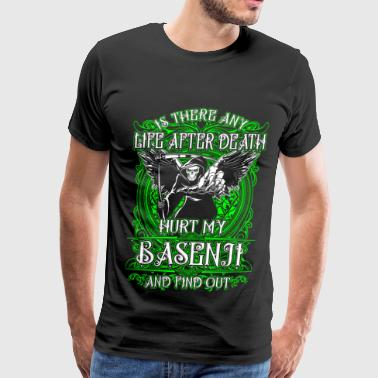 Basenji - Hurt my basenji and find out life afte - Men's Premium T-Shirt