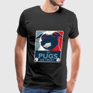 Pugs – We love pugs - Men's Premium T-Shirt