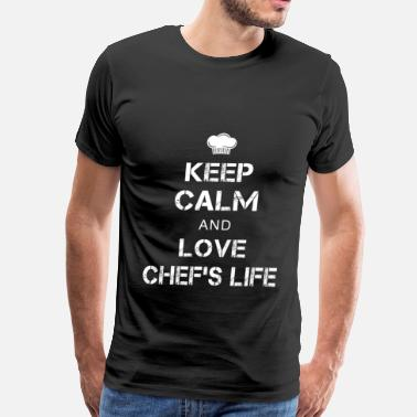 Chef Skull And Cleavers chef, chef funny, chef skull and cleavers, swedish - Men's Premium T-Shirt