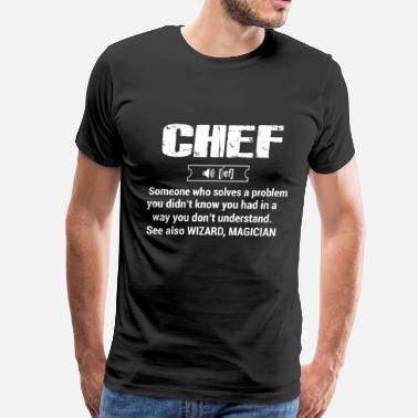 Chef chef, chef funny, chef skull and cleavers, swedish - Men's Premium T-Shirt