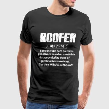 roofers coffee shop, roofer, roofers, roofer chick - Men's Premium T-Shirt