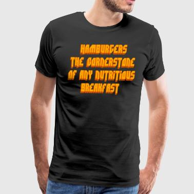 Pulp Fiction Quote - Hamburgers... - Men's Premium T-Shirt