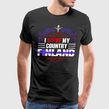 I Love My Country Finland - Men's Premium T-Shirt
