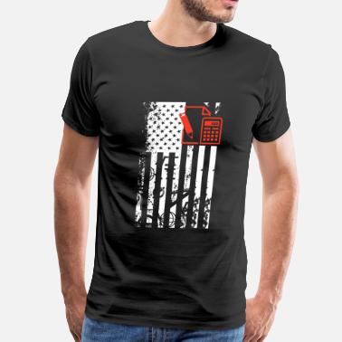 Teacher Flag Math Teacher Flag Shirt - Men's Premium T-Shirt