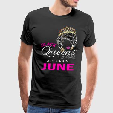 Black Queens April Birthday African American Gifts - Men's Premium T-Shirt