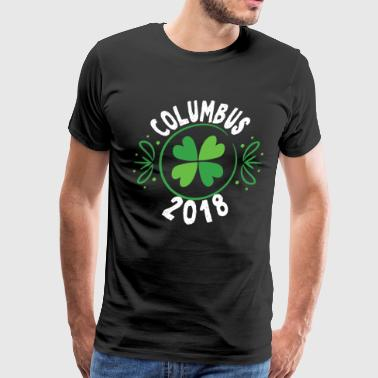 Columbus Ohio St Patricks Day TShirt Drinking Irish Shamrock - Men's Premium T-Shirt