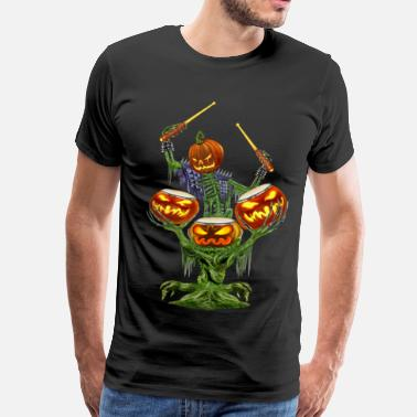 Death Drummer PUMPKIN DRUMMER - Men's Premium T-Shirt
