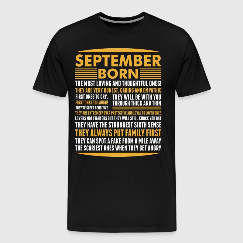 September Born Tshirt - Men's Premium T-Shirt