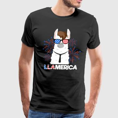 Llamerica USA Sunglasses - Llama - Men's Premium T-Shirt