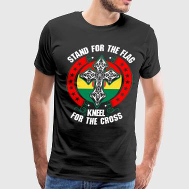 Stand For The Flag Kneel For The Cross Bolivian - Men's Premium T-Shirt