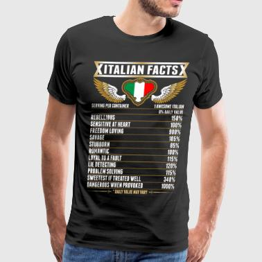 Funny Italian Italian Facts Tshirt - Men's Premium T-Shirt