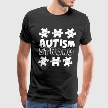Autism Strong Awareness Support Men s Autism - Men's Premium T-Shirt