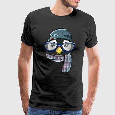 Hipster Penguin - Men's Premium T-Shirt