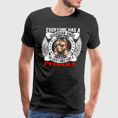 The Lucky Ones Have A Pitbull - Men's Premium T-Shirt
