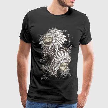 indian skulls - Men's Premium T-Shirt