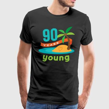 90th Birthday Tropical Island - Men's Premium T-Shirt
