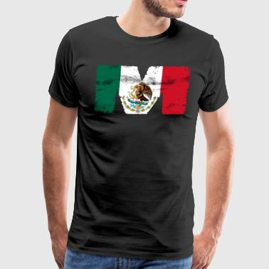 Mexican Mexico Flag - Men's Premium T-Shirt