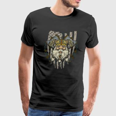 Awesome American Viking Patriotic - Men's Premium T-Shirt
