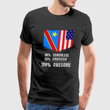 50% Congolese 50% American 100% Awesome - Men's Premium T-Shirt