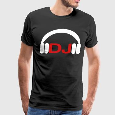 dj head phones - Men's Premium T-Shirt