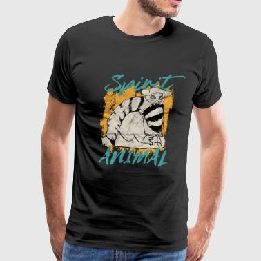 Conservation lemur spirit animal madagascar gift - Men's Premium T-Shirt