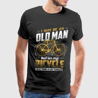 Fuck Cycling OLD BICYCLE GIRL AND MAN BIKE - Men's Premium T-Shirt