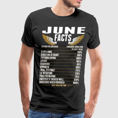 Born In June June Facts Tshirt - Men's Premium T-Shirt