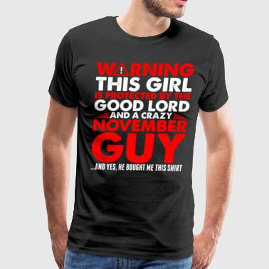This Girl Protected By November Guy - Men's Premium T-Shirt