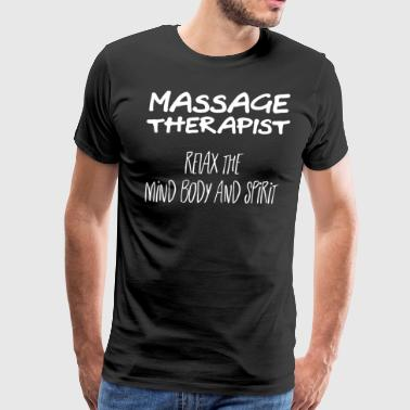 Massage Tshirt - Mind Body Spirit - Men's Premium T-Shirt