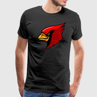 Red Cardinal Team Mascot - Men's Premium T-Shirt