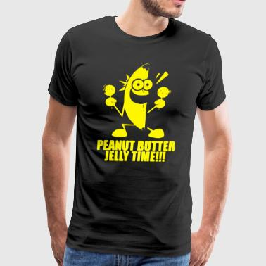 Peanut Butter Jelly Time Banana - Men's Premium T-Shirt