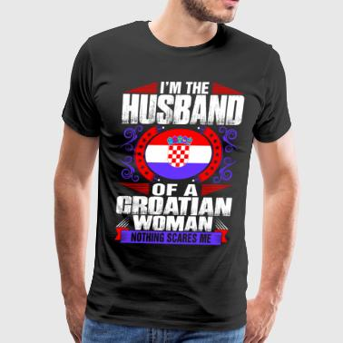 Im Croatian Woman Husband - Men's Premium T-Shirt