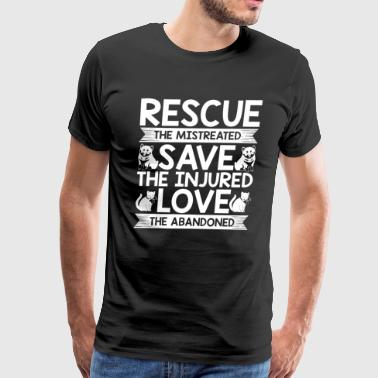 Dog Rescue | Cat Rescue | Save The Injured Pets - Men's Premium T-Shirt