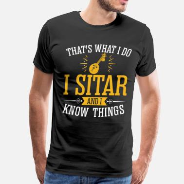 Sitar I Sitar And I Know Things - Men's Premium T-Shirt