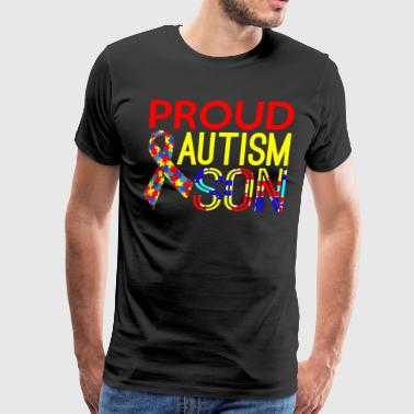 Proud Autism Son Awareness - Men's Premium T-Shirt