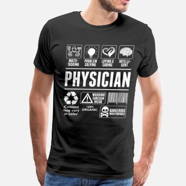 Multi Loving And Caring Physician Tshirt - Men's Premium T-Shirt