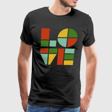 love Is Colour Funny Art - Men's Premium T-Shirt
