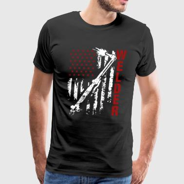 Welder Flag Tee Shirt - Men's Premium T-Shirt