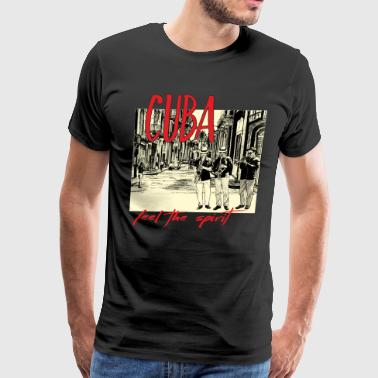 spreadmusic2015  Cuba Spirit dark - Present - Men's Premium T-Shirt