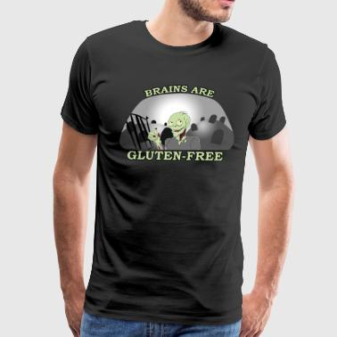 Brains are Gluten-Free - Men's Premium T-Shirt