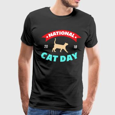 Cats - National Cat Day 2018 - Men's Premium T-Shirt
