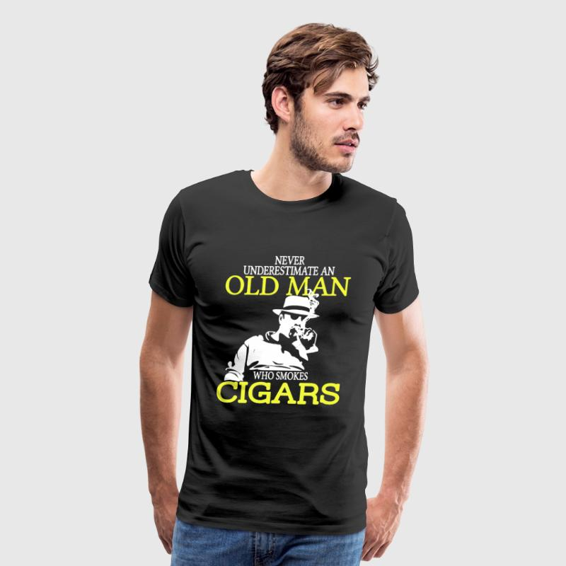 Old Man Who Smokes Cigars - Men's Premium T-Shirt