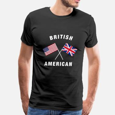 British American Flag British American uk us Flag - Men's Premium T-Shirt