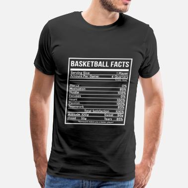 Cute Basketball BASKETBALL FACTS basketball girlfriend and cute - Men's Premium T-Shirt